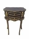Magnificent Louis XV ebonised gilded side table commode