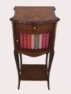 Unusual side table with fake library drawer GORGEOUS!!