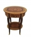 Quality LOUIS XV MARQUETRY ROUND SIDE TABLE