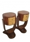 12 weeks PAIR Art Deco Two toned side tables commodes