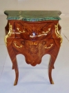 Magnificent PAIR curved Louis XV style side tables