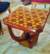Very best Art Deco chess marquetry coffee side table