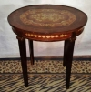 Unique Louis XVI side table with exquisite marquetry