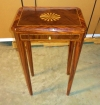 Quality marquetry Regency style inlaid side table