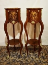 in 14 weeks HOTTEST PAIR TALL stands Louis XV style