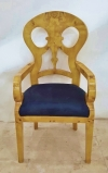 in 10 weeks Finest Biedermeier Style Elm ArmChair