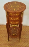 QUALITY Marquetry bed side table commode dutch style