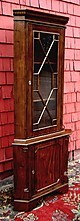 Perfect Edwardian solid Mahogany corner cabinet