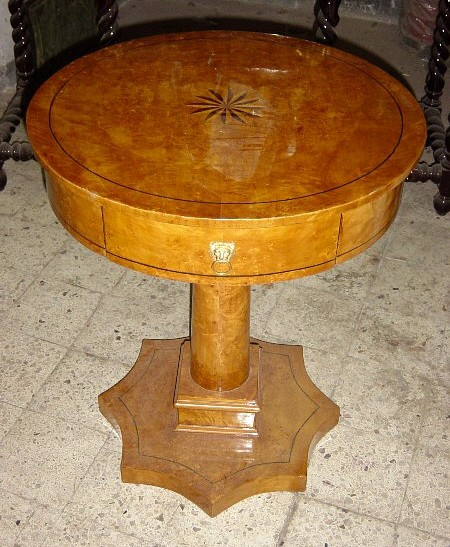 Finest Biedermeier Style Round shaped Side Table