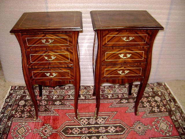 Marvelous Pair side commodes Louis XV style